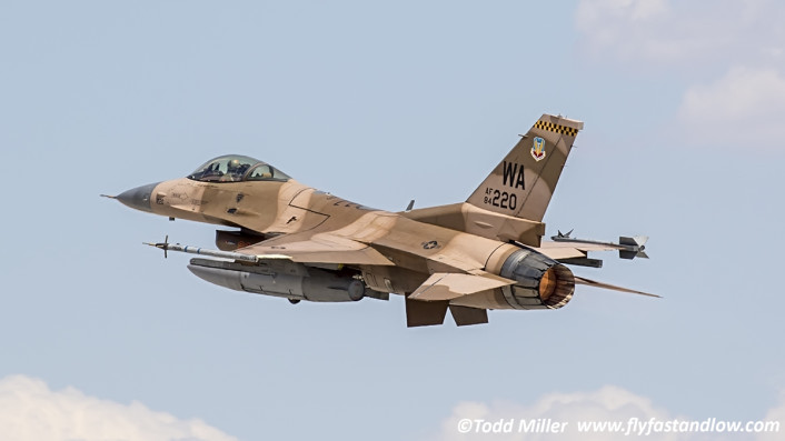 F-16C 64 AGRS departs Nellis For Red Flag 15-3 Sortie