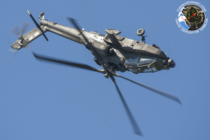 AH-64 inverted