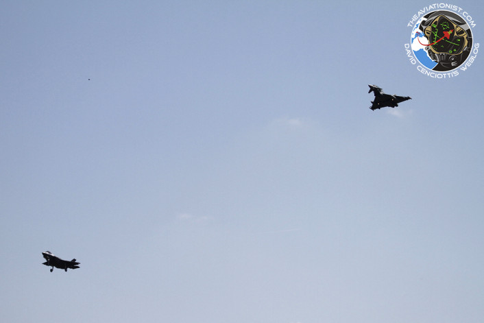 First F-35 Italy escorted