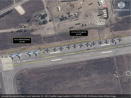Russian Aircraft at al Assad Intl Airport_20September2015_AllSource Analysis