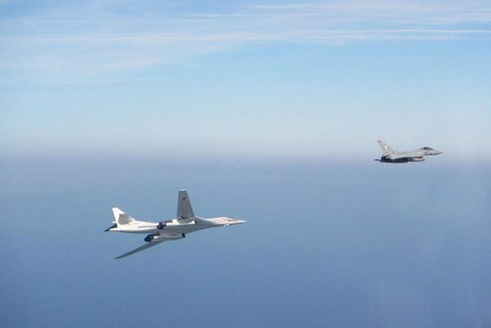 Tu-160 intercepted Typhoons