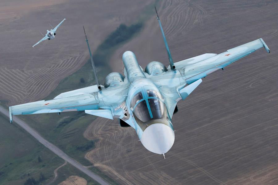 Siria: se globaliza el conflicto. - Página 17 Su-34-headon