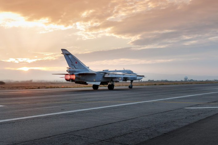Su-24 takeoff