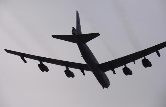 B-52 Flypast