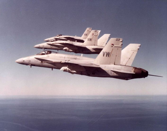 F/A-18 SEAD roll-back