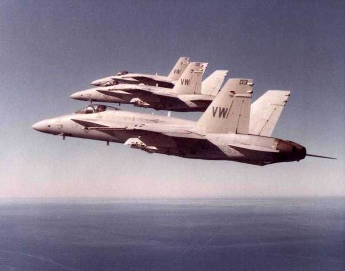 F/A-18 SEAD roll-back