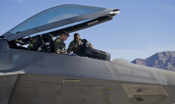 F-22 at Nellis AFB