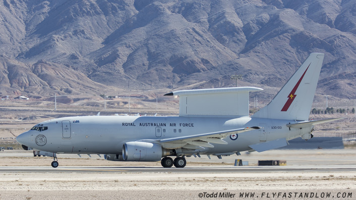 """This Royal Australian Air Force E-7A Wedgetail (from 2 Sqd RAAF Base Williamtown) is noted for """"Hide & Seek Champions 19 Aug - 15 Dec 2015"""""""