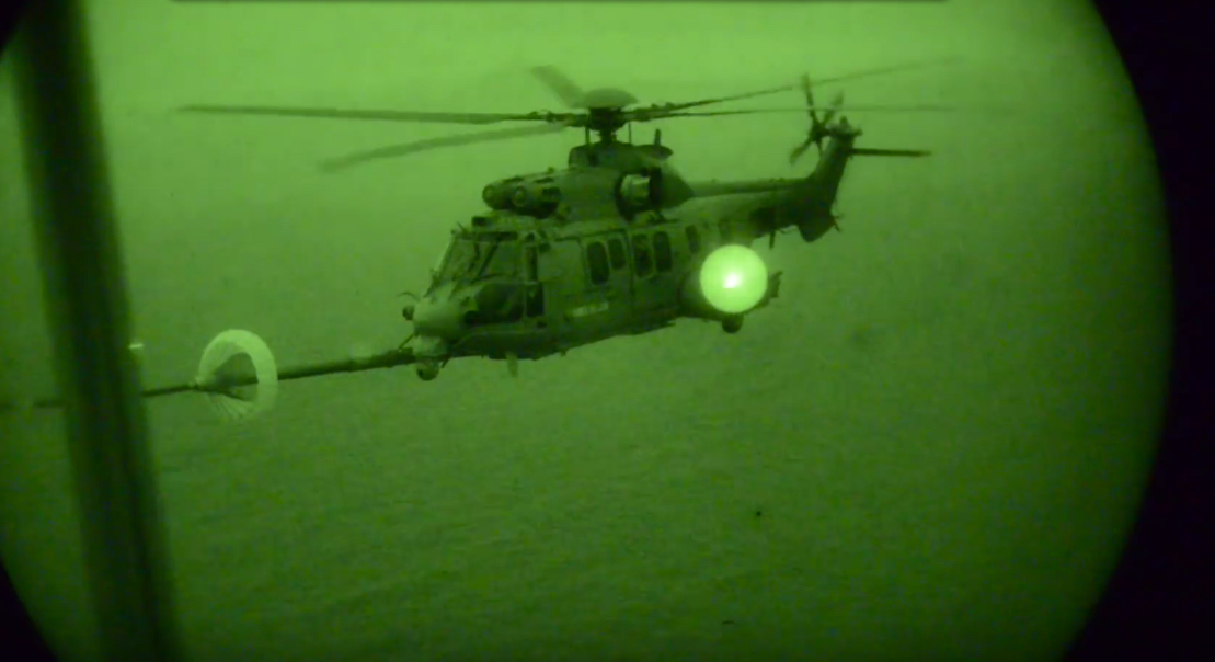 Watch This Cool Video Of An AFSOC MC 130J Refueling A French Combat Helicopter At Night