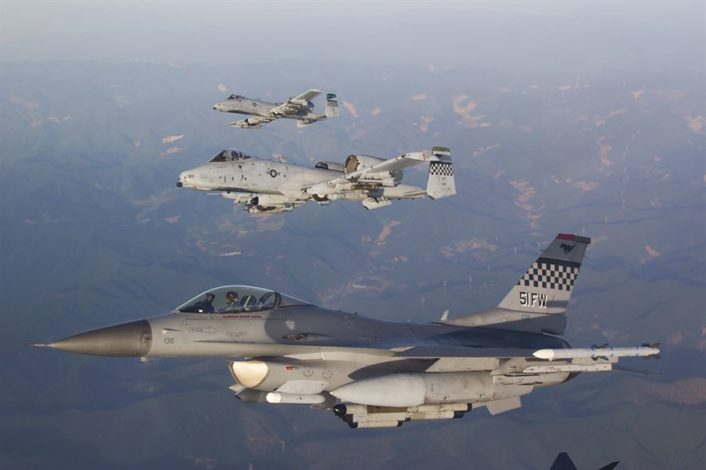 A-10 with F-16s Osan AFB 4