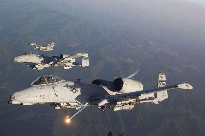 A-10 with F-16s Osan AFB