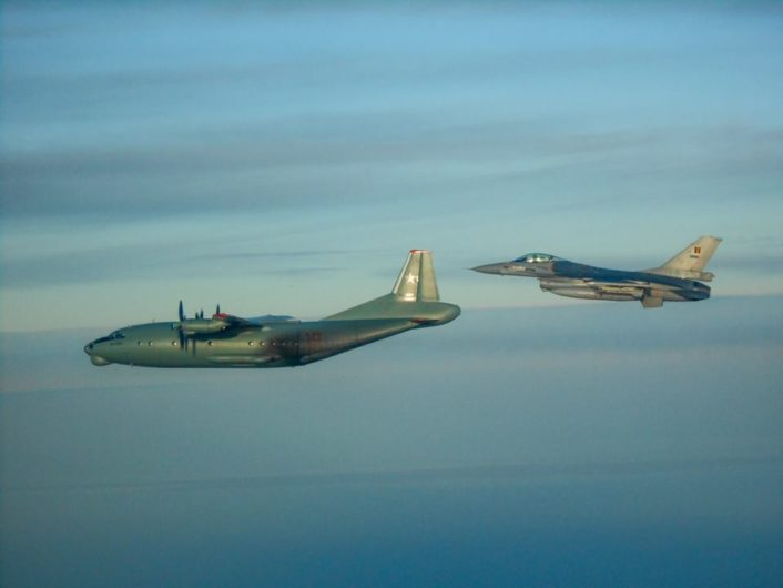 An-12PPS with F-16