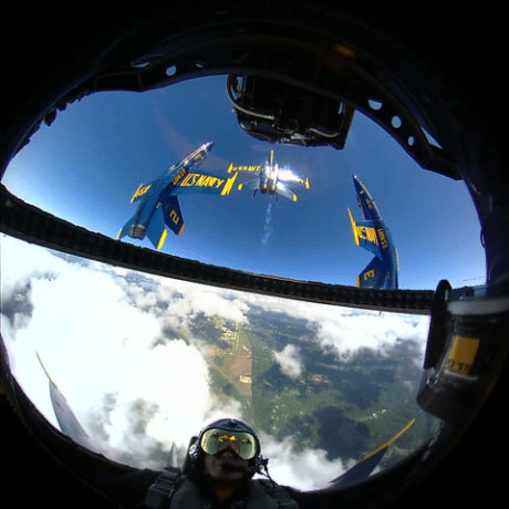 Check Out this awesome 360-degree Video of Blue Angels Flight