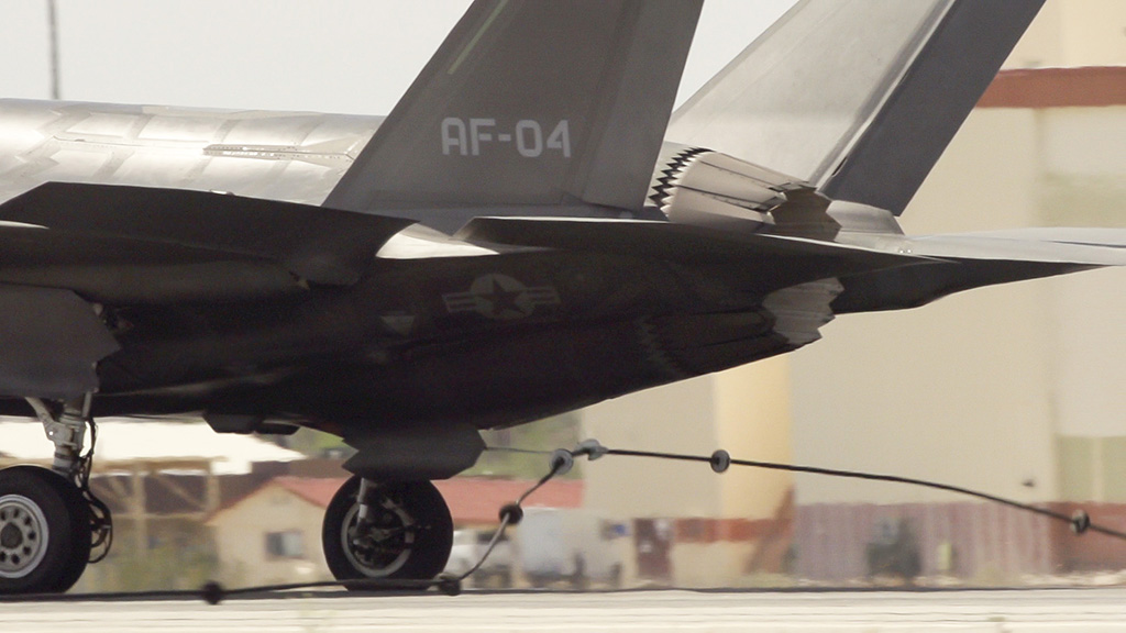 F-35A tailhook close up