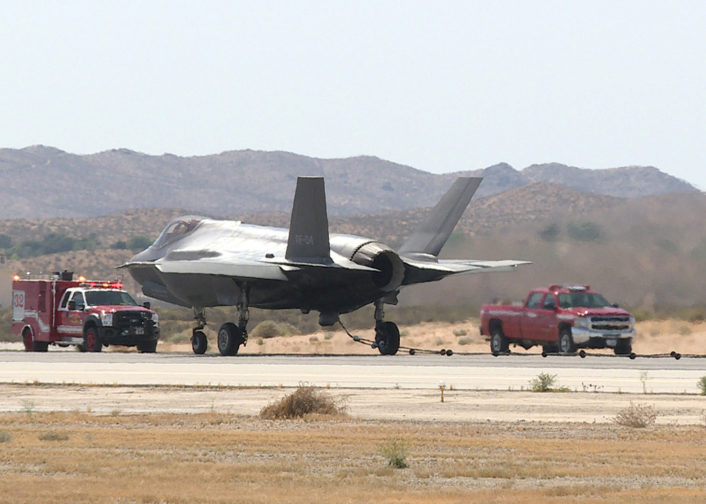 F-35A tailhook emergency vehicles