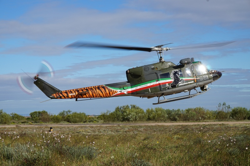 Take A Look At This Cool Italian AB212ICO Helicopter In Tiger Color Scheme Attending NTM2016