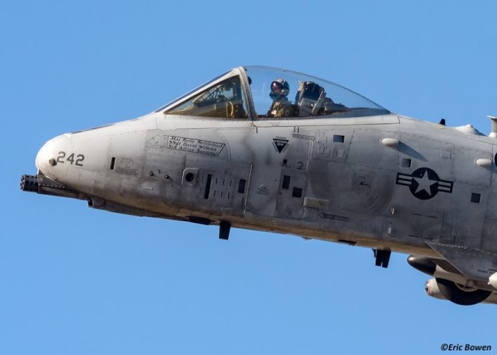 A-10C from Nellis, AFB provides Close Air Support at Keno airfield on the NTTR during JFEC (Dec 2015)