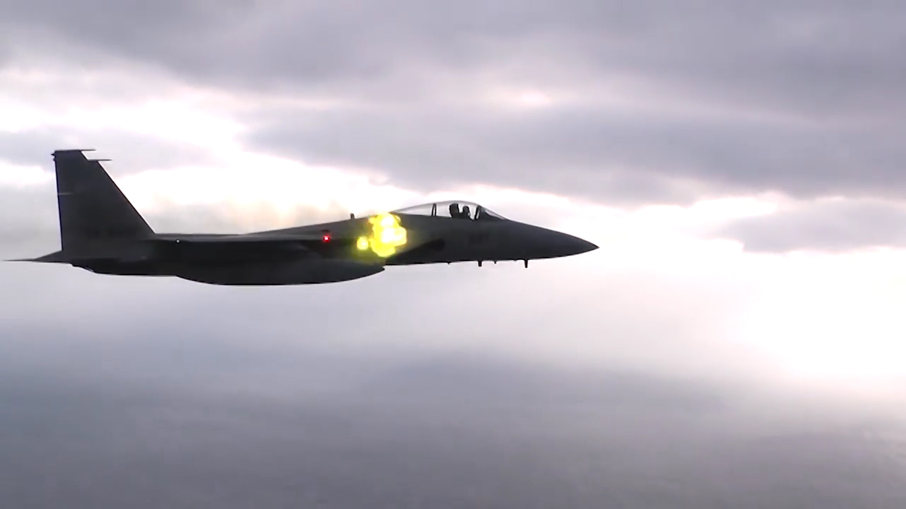 rare video shows japanese f 15 eagle firing m61 vulcan 20mm gun rh theaviationist com