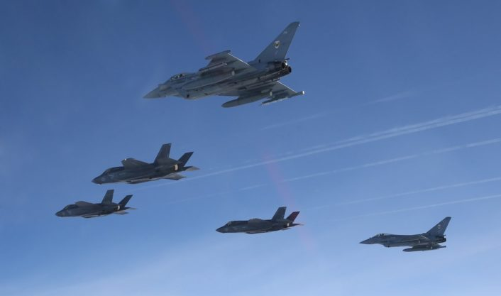 F-35B arrives with escort 3