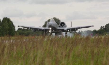 Watch U.S. Air Force A-10s perform highway landings in Estonia