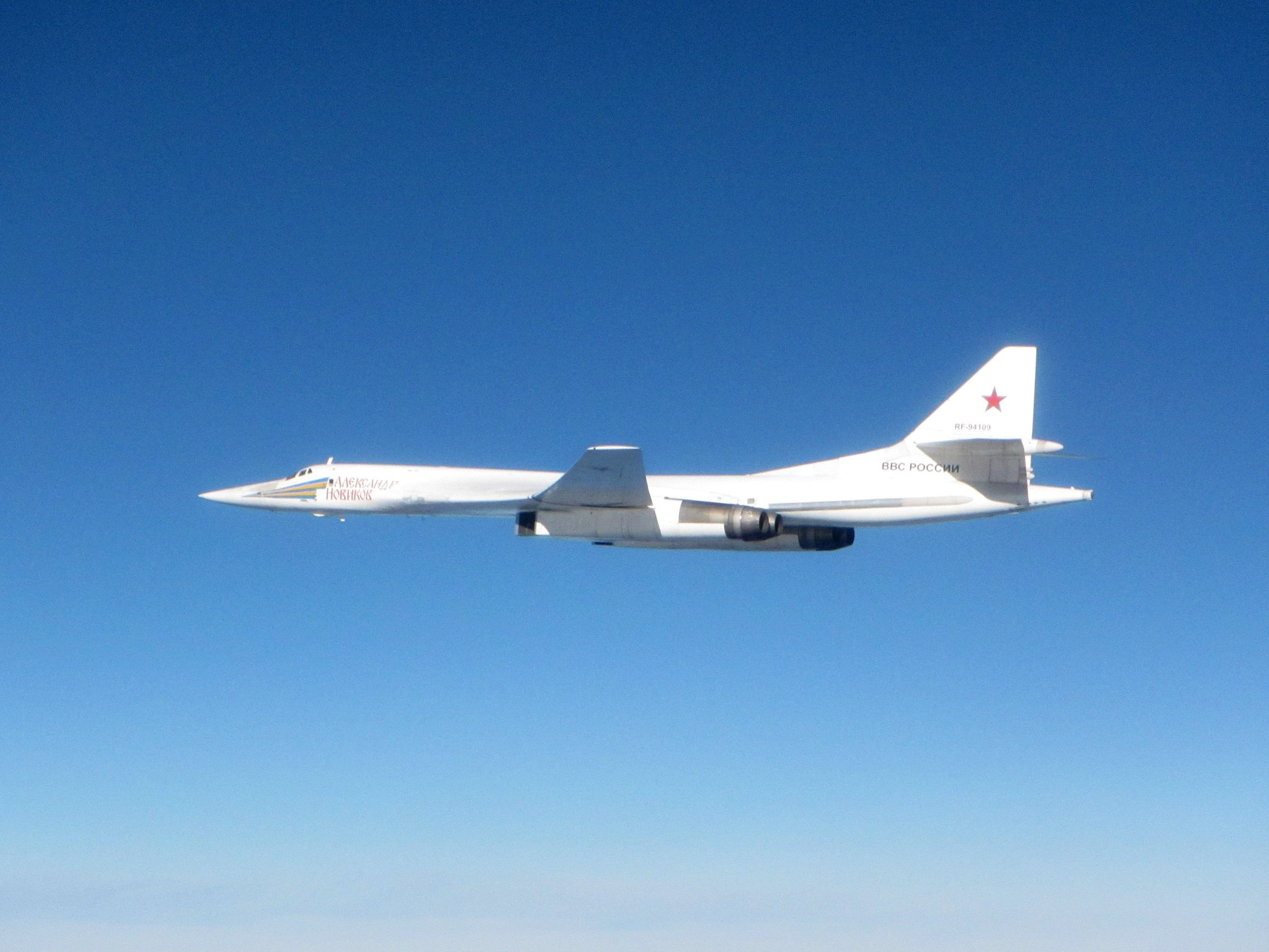 Here Are The Shots Of Two Russian Tu 160 Ers Intercepted By Raf Typhoon Near Uk Aviationist