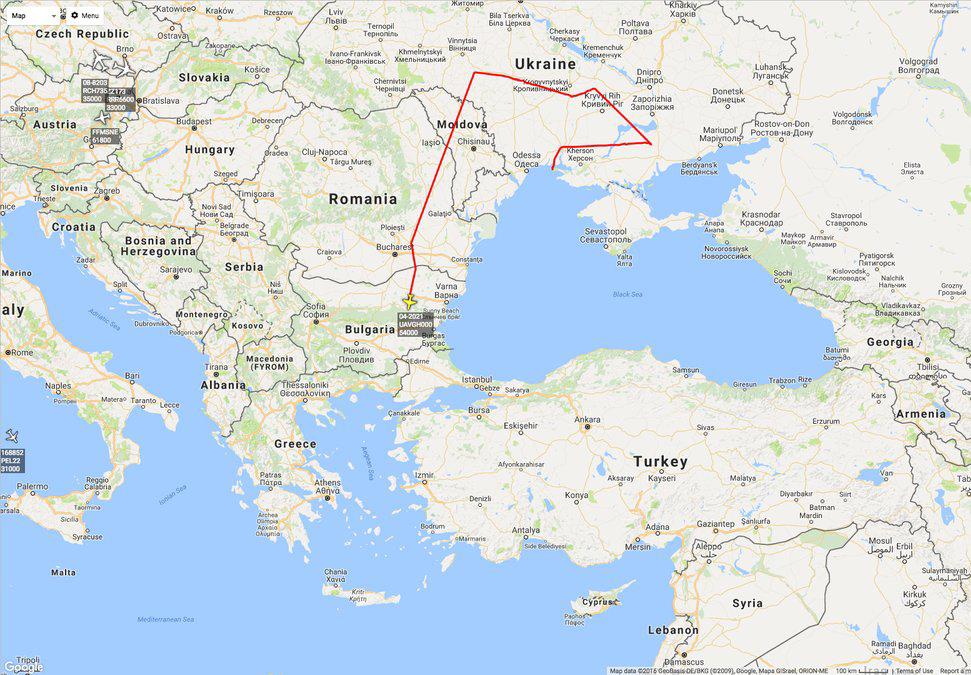 The Aviationist Ukraine - Map ukraine over us