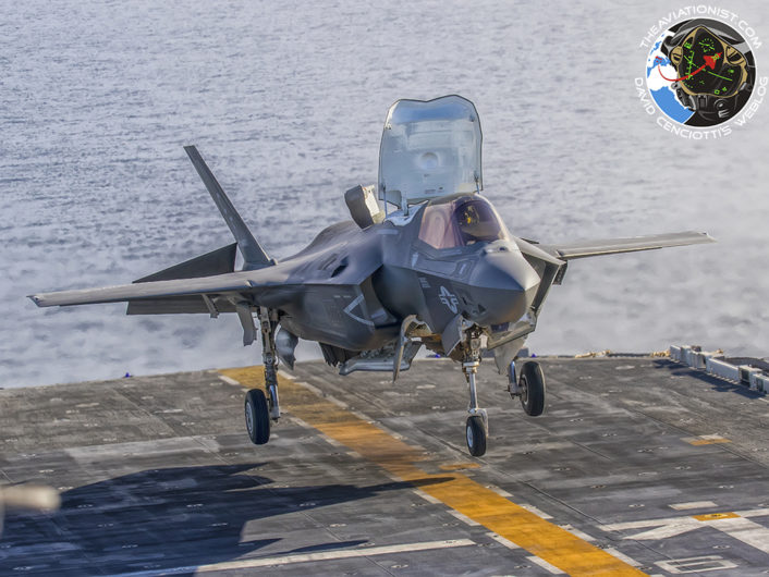 """Touchdown imminent during """"Proof of Concept"""" demonstration on the USS America (LHA-6) November 19, 2016."""
