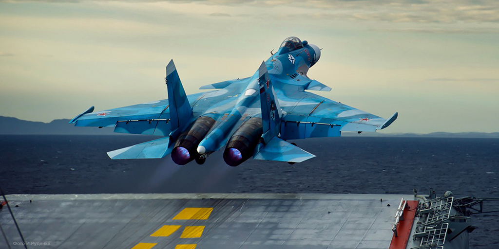 Aircraft Carrier Admiral Kuznetsov: News #1 - Page 25 Sukhoi_Su-33_launching_from_the_Admiral_Kuznetsov