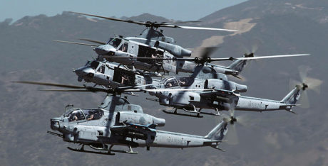 In a massive exercise HMLA-369 launched a unique assault formation of AH-1Z Viper and UH-1Y Venom helicopters