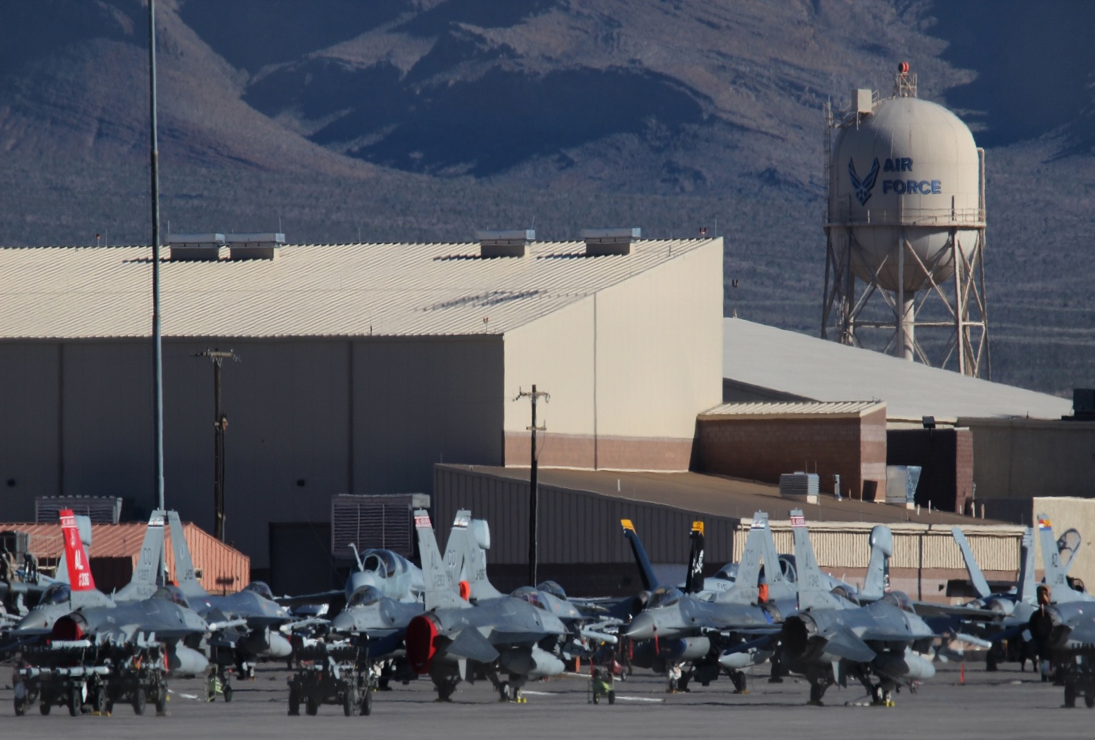 White apron homebase - Aircraft Parked On The Apron At Nellis Afb During Rf 17 2