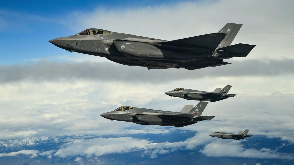 US Air Force's Fifth-Generation F-35A Fighter Jets Arrive in Britain