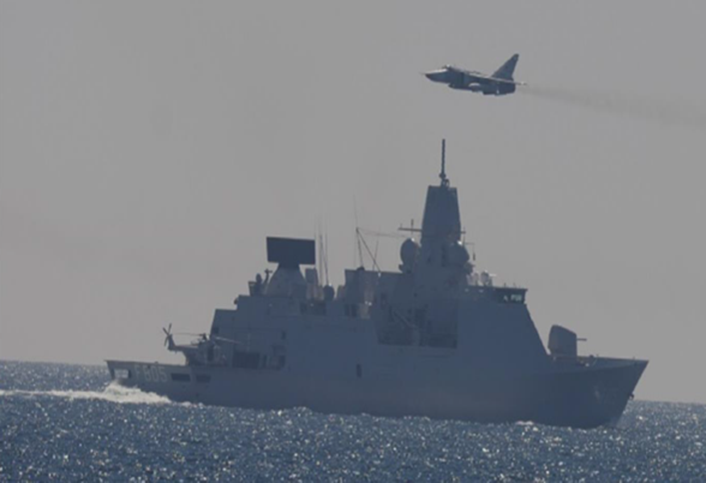 Image result for French warship buzzed by Russian combat aircraft in mediterranean