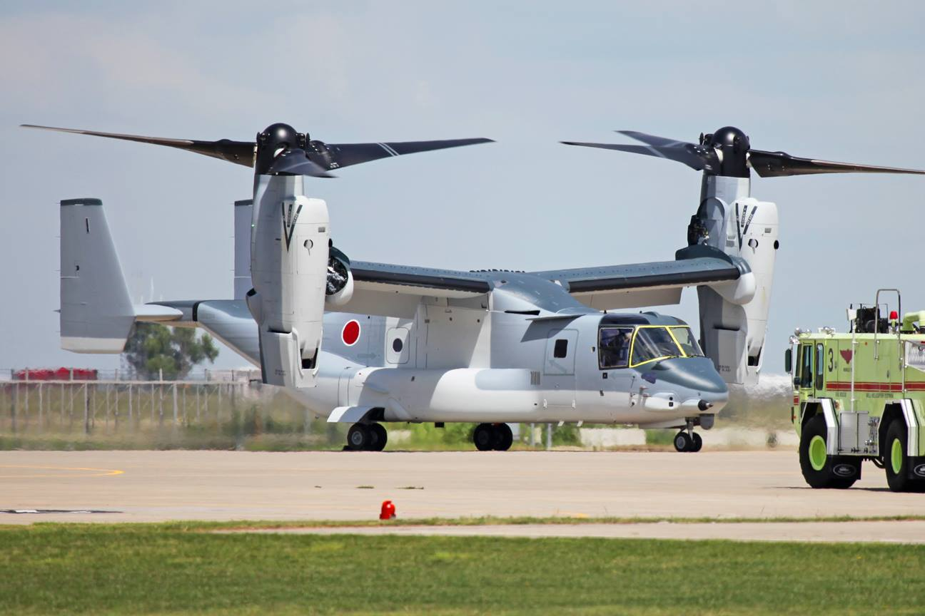Here Is Japan's First V-22: The First Osprey Tilt-Rotor Aircraft For A Military Outside Of The U.S.