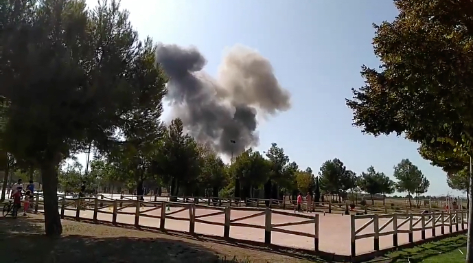 Military plane crash in Spain - casualties unclear